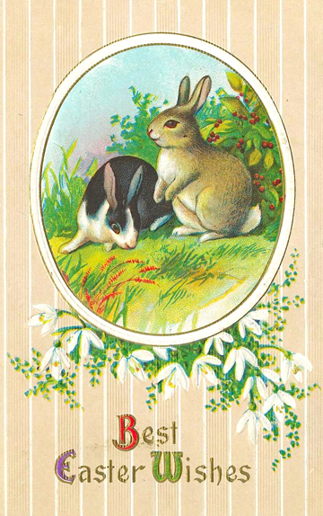 Easter postcard, circa-1900, possibly American-produced. (Source: Wikimedia Commons. Image out of copyright in the United States.)