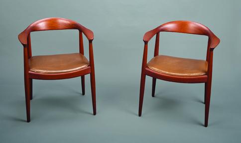 Mid-Century Modern teak chairs