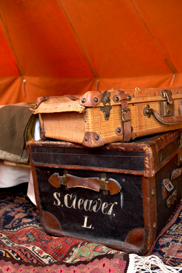 Negotiating can help you stretch your flea market dollar as well as score great deals on one-of-a-kind treasures. Try bargaining for two things at a time from a seller, such as these two trunks, as they will be less likely to turn down an offer on two sales.