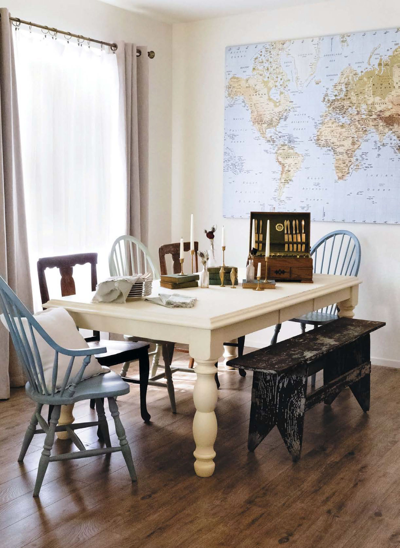 Dining Table Refresh Flea Market Finds Home And Garden Decorating Ideas By Expert Interior Decorators