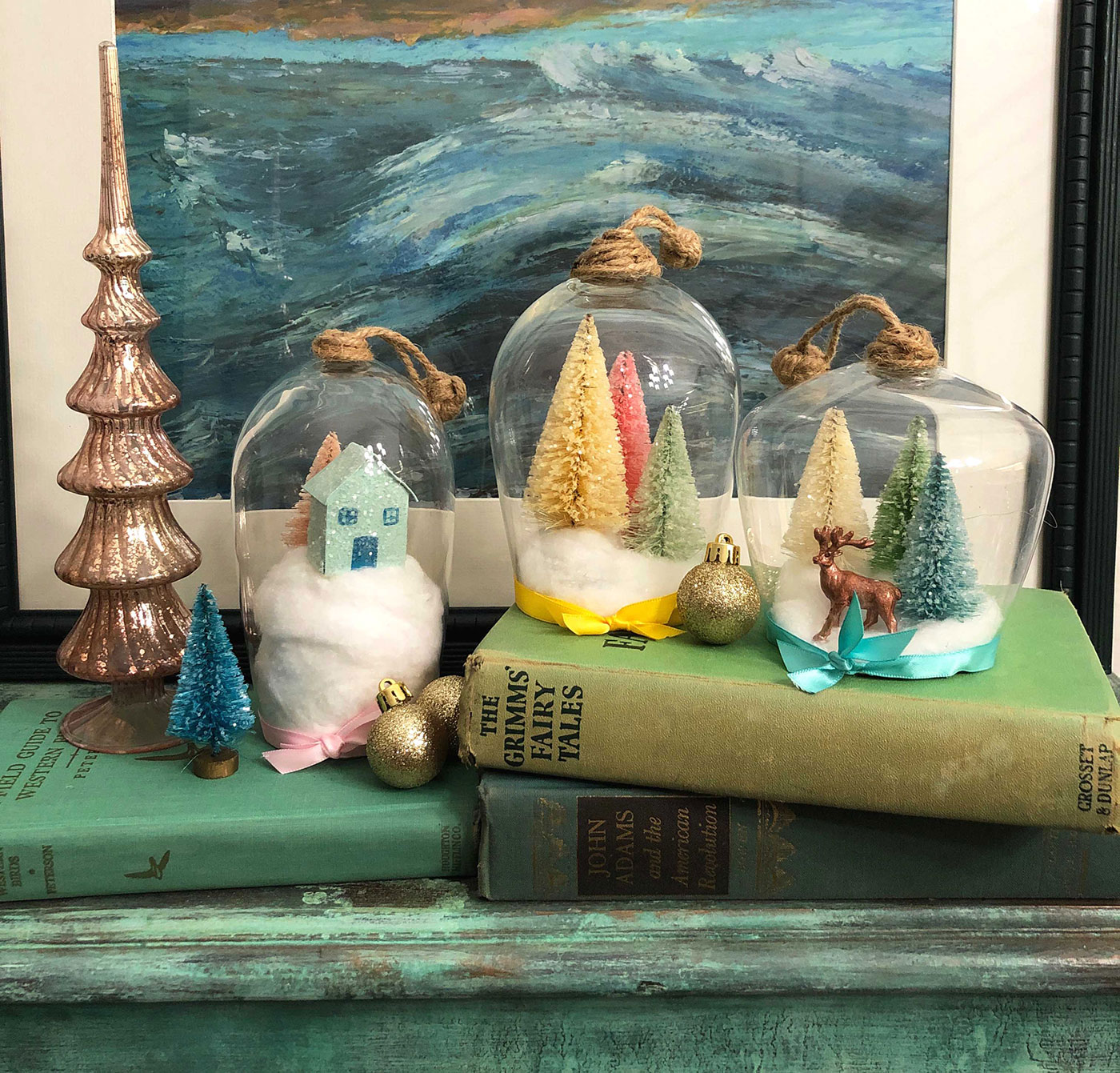 Diy Wine Glass Cloche For Holiday Vignettes Flea Market Finds Home And Garden Decorating Ideas By Expert Interior Decorators