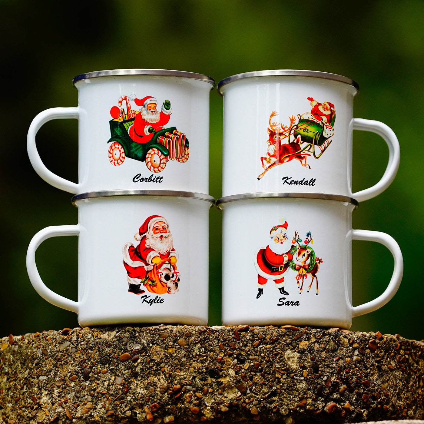 Santa Mugs Are Comin To Town Flea Market Finds Home And Garden Decorating Ideas By Expert Interior Decorators