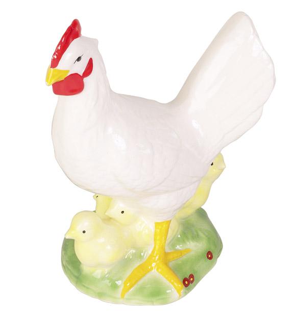 Vintage porcelain hen with chicks