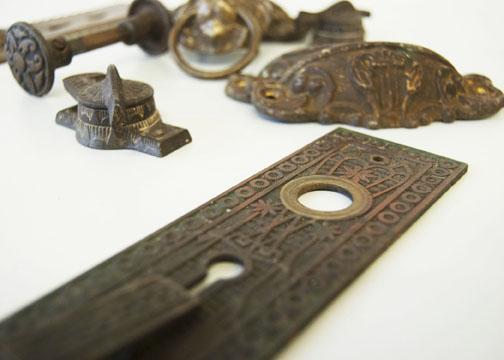 Antique Eastlake hardware made of brass